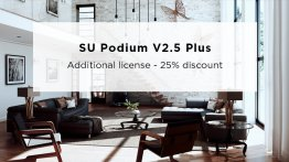 SU Podium V2.5 Plus ADDITIONAL Commercial Win/Mac