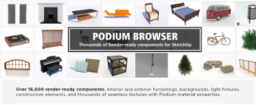 SU Podium V2.6 Upgrade from SU Podium V2.5 + Podium Browser